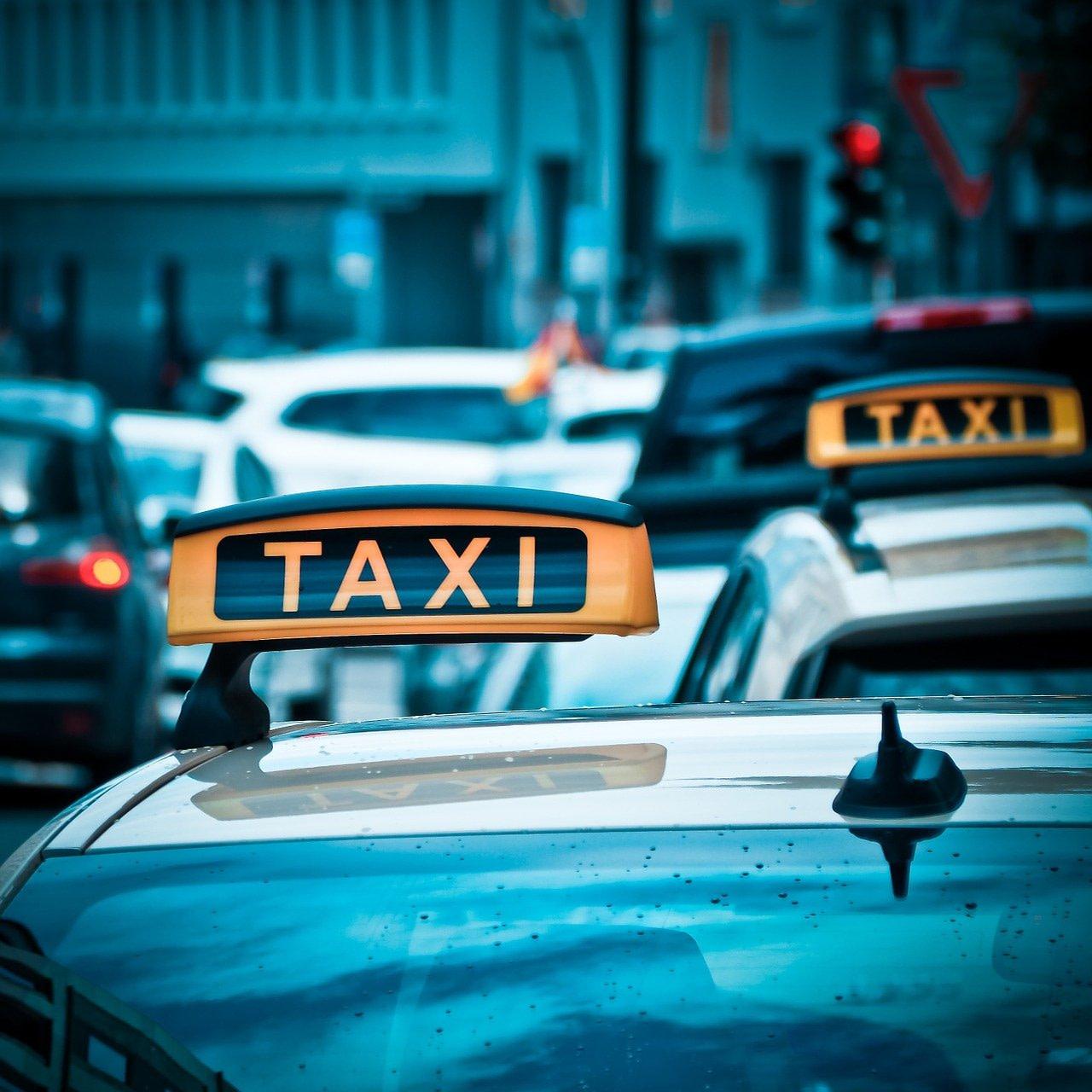 taxi, auto, road
