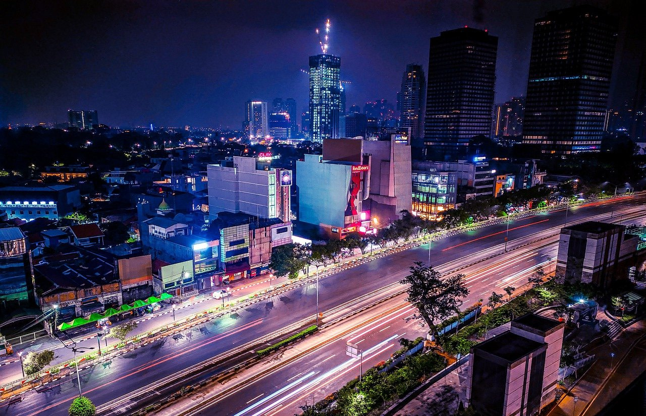 jakarta, indonesia, night