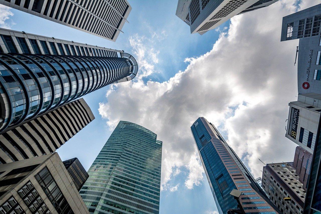 singapore, skyscraper, cloud